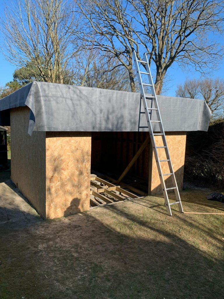 Garden room timber structure