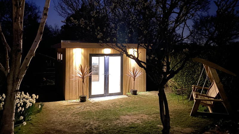 Garden room external night shot